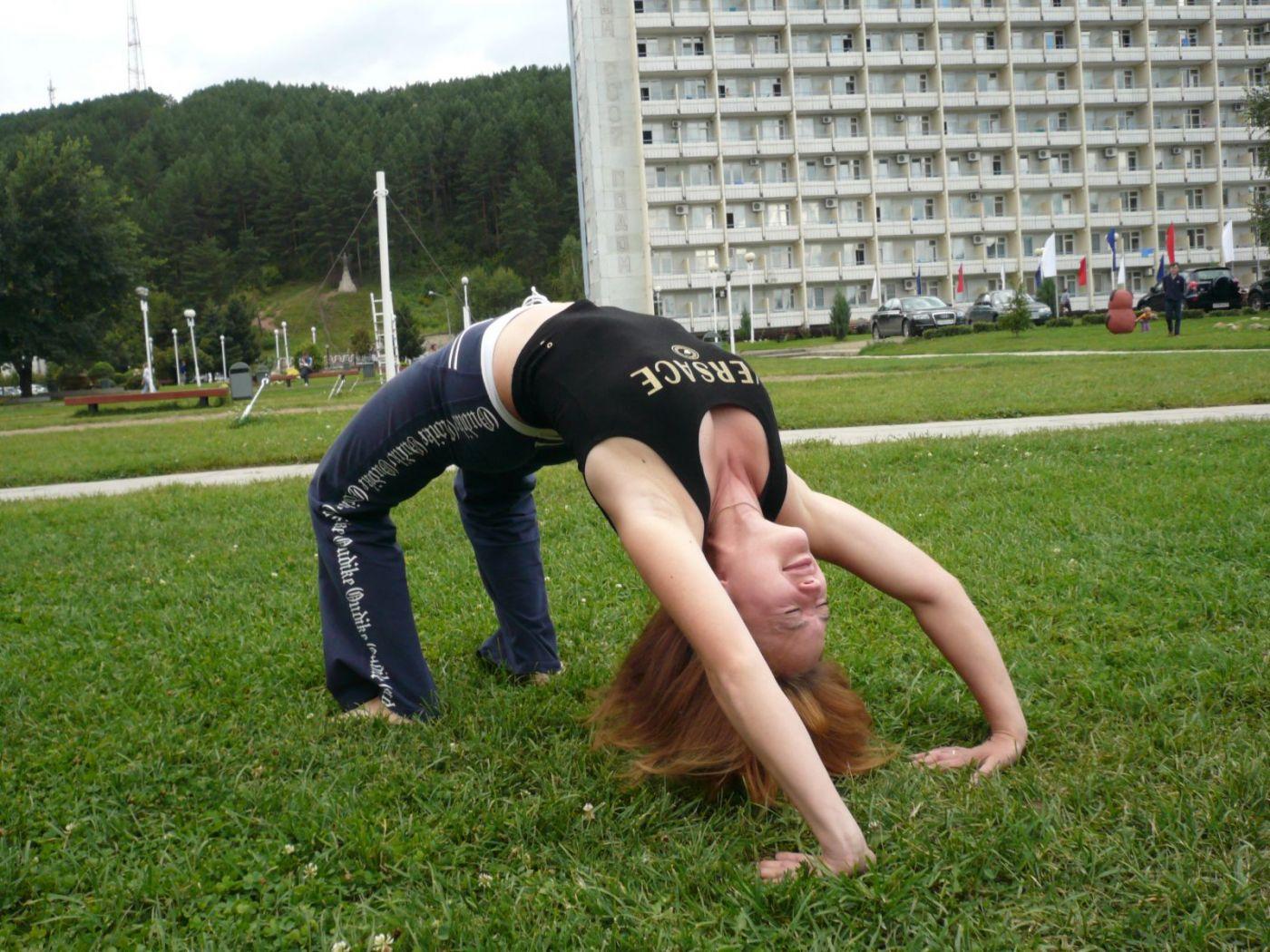 Йога для начинающих мостик