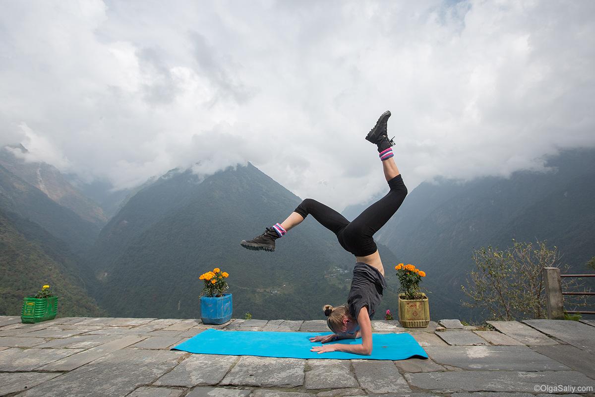 Йога тур в Гималаях, йожимся